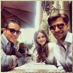 #Lunchtime #pfw w/ @Olivia García García García Palermo @lucassomoza - @johanneshuebl- #webstagram
