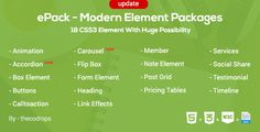 ePack -  18 CSS3 Element Packages