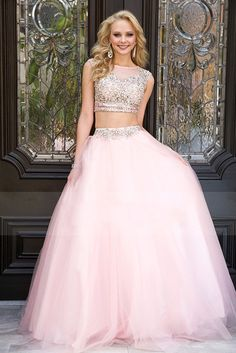 pink two piece prom dress - Google Search