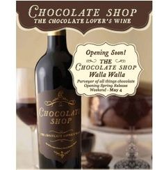 Chocolate Shop Wine - You either love it or hate it... it is my new favorite!  Spectacular!  Chocolate after taste- pours like regular red wine!  Fun to just sip on it and totally attacks my chocolate cravings!
