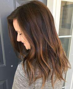Love my hair colour. Dimensional brunette balayage