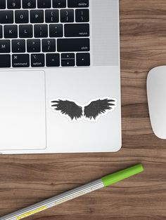 """""""Demonic wings"""" Sticker by cool-shirts 