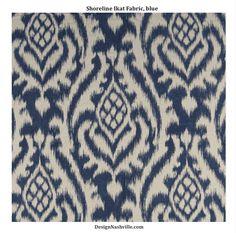 SWATCH Shoreline Ikat Fabric, blue