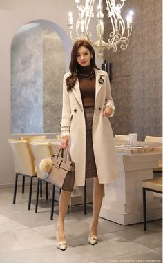 Classy outfits ideas for work, business, and university, for this fall season, from beautiful and very elegant asian la… Casual Work Outfits, Professional Outfits, Classy Outfits, Chic Outfits, Fashion Outfits, Womens Fashion, Ladies Fashion, Fashion Ideas, Cheap Fashion