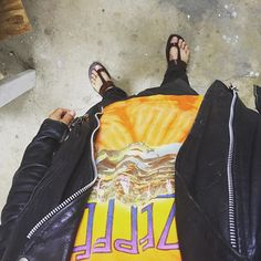 Sunday Evening Attire #ledzeppelin #leatherjacket #corduroypants #batashoes