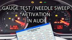How to activate #Audi needle sweep / gauge test (#VCDS VAG-COM VAS) A1 A3 A4 A5 A6 A7 A8 Q7