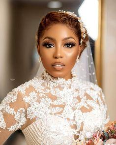 Black Wedding Hairstyles, Black Girls Hairstyles, Bride Hairstyles, Wedding Day Makeup, Bridal Hair And Makeup, Hair Makeup, Bridal Make Up, Bridal Looks, Eyebrow Makeup Tips