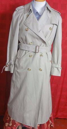 Burberrys London Womens Beige Polyester Blend Trench Coat Size 5 Reg #BurberryLondon #Trench
