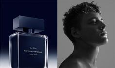 Up and comer Billy Vandendooren stars in Narciso Rodriguez for him Bleu Noir Fragrance 2015 advertising campaign captured by fashion photographer Zeb Daemen Narciso Rodriguez For Him, Vash, Advertising Campaign, Perfume Bottles, Cosmetics, Portrait, Photography, Beauty, Color