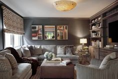 Contemporary Den Family Room Design Ideas, Pictures, Remodel and Decor
