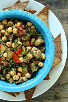 ... sephardic salad grilled eggplant and chickpea sephardic salad is