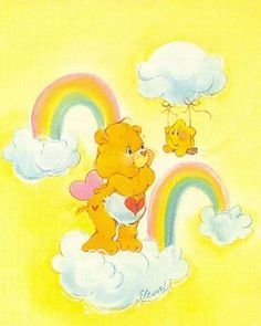 Are you more of a Grumpy-Bear or Tenderheart? Care Bear Birthday, Care Bear Party, Sunshine Bear, Care Bears Vintage, Bear Character, Bear Wallpaper, Vintage Cartoon, Vintage Art, Film Serie