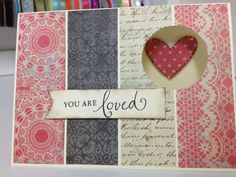 You Are Loved Homemade Card by SorellaCards on Etsy, $3.00