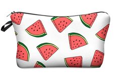 Cute Graphic Pouch Travel Case Cosmetic Makeup Bag (Watermelon White) StylesILove  #affiliate