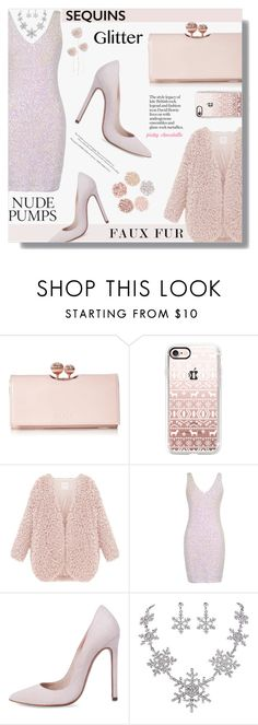 """""""Faux Fur Coats: 28/12/16"""" by pinky-chocolatte ❤ liked on Polyvore featuring Ted Baker, Casetify and LORAC"""