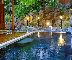 Shojukan.  Shima onsen, Gunma, Japan  |    四万温泉 鍾寿館 群馬県四万温泉. Wouldn't look bad in my backyard, either! :)