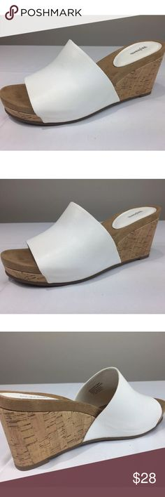 Style Co. Jackeyy Wrapped Mules White Size 7.5M Style Co. Womens Jackeyy Wrapped Wedge Mules White Size 7.5M New  New  MSRP: $49.50  With Box  Heel Thickness Approximately : 3 inc Toe Thickness: 1 inc Style & Co Shoes Mules & Clogs