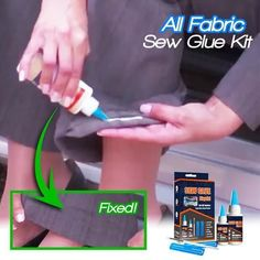 Shop OFF All Fabric Sew Glue Kit Ideas fabric Glue Kit sew Sewing hacks videos Shop Simple Life Hacks, Useful Life Hacks, Fabric Glue, Fabric Crafts, Fabric Sewing, Fleece Fabric, Sew Ins, Cool Inventions, Diy Home Crafts