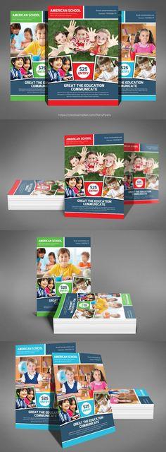 Kids School Education Flyer Template