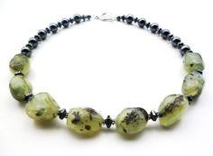Prehnite Necklace - Prehnite Jewelry by BigSkiesJewellery, $46.00 #prehnite #handmadejewelry #gemstone #necklace