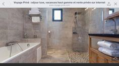 Salle de bain pierres