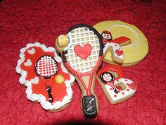 Tennis Themed Valentines Cookies   Cookie Connection