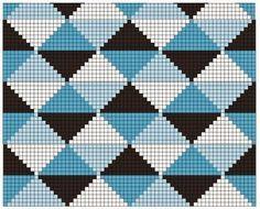 Triforce-iltalaukku pattern by Molla Mills Bargello Patterns, Tapestry Crochet Patterns, Crochet Stitches Patterns, Knitting Patterns, Beading Patterns, Pixel Crochet, Crochet Chart, Bead Crochet Rope, Diy Crochet