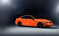 BMW M3 E92 orange black rims wallpaper - http://www.gbwallpapers.com/bmw-m3-e92-orange-black-rims-wallpaper/ ( / Cars)