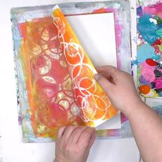 Color, Pattern, & Texture in One Pull - Carolyn Dube Stencil Printing, Gelli Plate Printing, Stencil Art, Bird Stencil, Damask Stencil, Painting Stencils, Faux Painting, Stencil Patterns, Painting Patterns