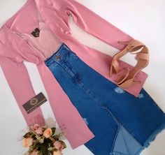 Denim Skirt Outfits, Edgy Outfits, Modest Outfits, Casual Dresses, Cute Outfits, Fashion Outfits, Look Fashion, Teen Fashion, Womens Fashion
