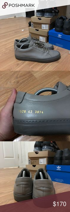 Common Projects Achilles Low Used but still in great condition! Only selling because it is too big for me. Doesn't come with OG box, but will provide replacement. Common Projects Shoes Sneakers
