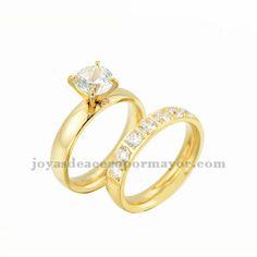 anillos de diamantes cristales en venta de joyas de oro dorado