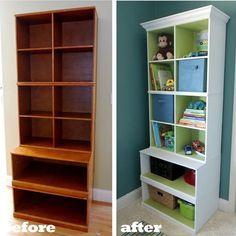 Transforma una estantería vieja en un mueble moderno