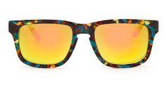 RILEY - MOTLEY FRAME - GOLD MIRROR LENS - DIFF Eyewear