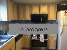 Update your laminate cabinets with classic shaker style doors. DIY your kitchen upgrade with this budget-friendly makeover. Easy project for beginners.
