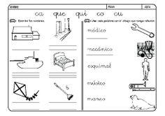Fichas infantiles para aprender a leer y aprender a escribir con la letra C. Dibujos Lectoescritura con letra C para colorear. Lectoescritura_CyQ_21