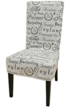 Incroyable Crestmont Black Parsons Chair Slipcover For End Chairs.