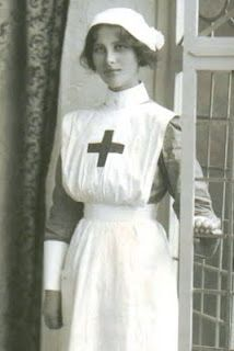 lovely WWI nurse; so glad I never had to wear anything like this