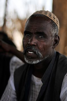 A man in a village mosque in the desert of eastern Sudan. [Photo: J.B. Russell / MAG, 2011]