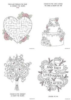 Free Download Printable Wedding Colouring Sheets For Kids