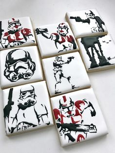 Star Wars cookies, storm trooper, shock trooper cookies