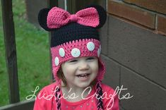 FREE Ravelry: Minnie Mouse Toddler Hat pattern by Kelsey Bieker