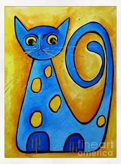 Sketch Book for Kids: BLANK Paper Drawing Pad Painting Sketching Doodling 120 Pages, x Glossy Premium Abstract Cat Cover For Pens Pencils . Paper Drawing, Cat Drawing, Drawing For Kids, Art For Kids, Dot Painting, Fabric Painting, Cat Shots, Cat Quilt, Blue Cats