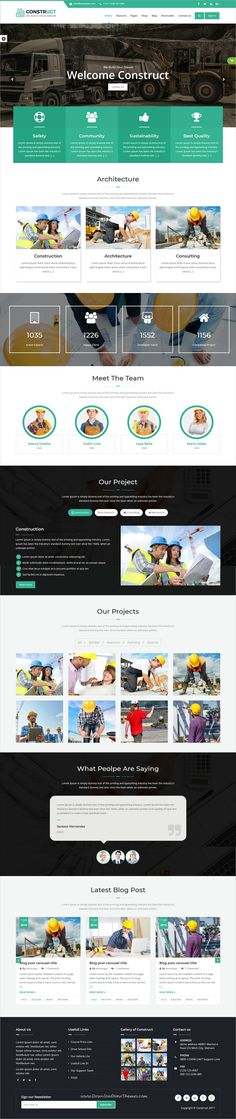 Construct is clean and modern design 6in1 responsive #HTML template for construction, #building and #maintenance business website to live preview & download click on Visit