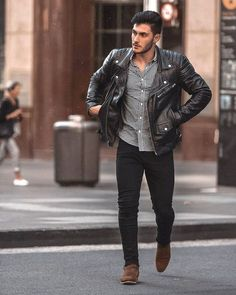 Great prices on stylish mens fashion trends. Stylish Mens Fashion, Latest Mens Fashion, Mens Clothing Styles, Streetwear, Men Casual, Leather Jacket, Men's Jacket, Fashion Hats, Fashion Wear
