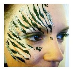 Wedding / hen / bachelorette party face painting – glitter animal print, zoo pro… – Hobbies paining body for kids and adult Zebra Face Paint, Glitter Face Paint, Leopard Makeup, Animal Makeup, Zoo Project, Project Ideas, Safari Theme Party, Jungle Theme, Nature Tattoos