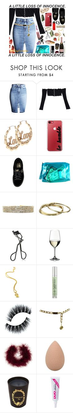 """""""My left stroke just went viral 🤷🏽♀️"""" by liluglycutie ❤ liked on Polyvore featuring Casetify, Puma, Karen Kane, MAC Cosmetics, Riedel, Urban Decay, Chanel, Frasier Sterling and Ladurée"""