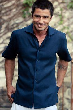 Mens Linen Shirts on Pinterest   Linens, Mens Linen Shorts and Long ...