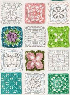 Transcendent Crochet a Solid Granny Square Ideas. Inconceivable Crochet a Solid Granny Square Ideas. Crochet Bedspread Pattern, Crochet Motif Patterns, Crochet Blocks, Granny Square Crochet Pattern, Crochet Diagram, Crochet Chart, Crochet Squares, Crochet Granny, Crochet Designs