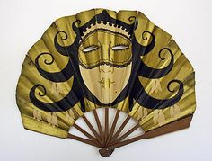 Fan-1910-1920-wool and paper